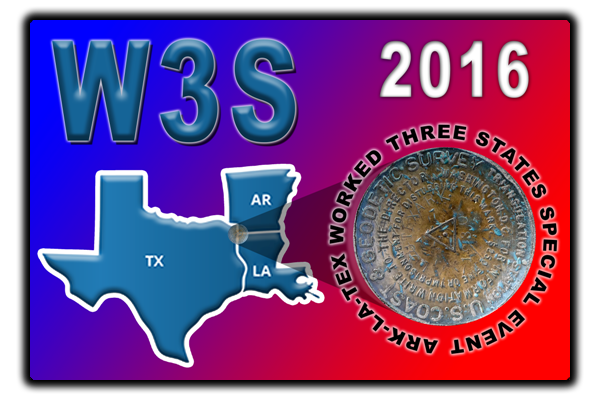 2016 Worked Three States W3S Special Event QSO Card